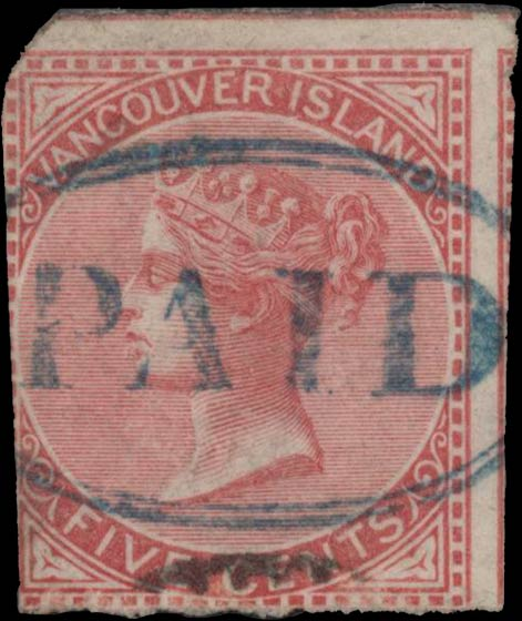 British_Columbia_1865_5c_Genuine