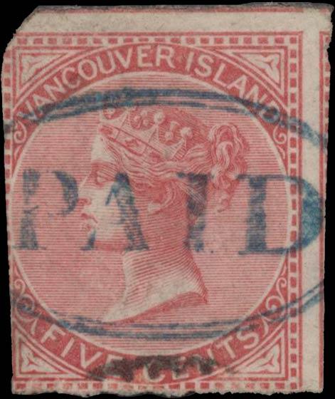 British_Columbia_1865_5c_Genuine