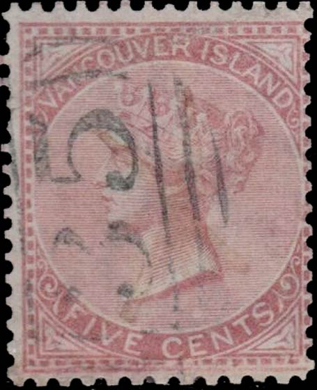 British_Columbia_1865_5c_Genuine_Reperforated