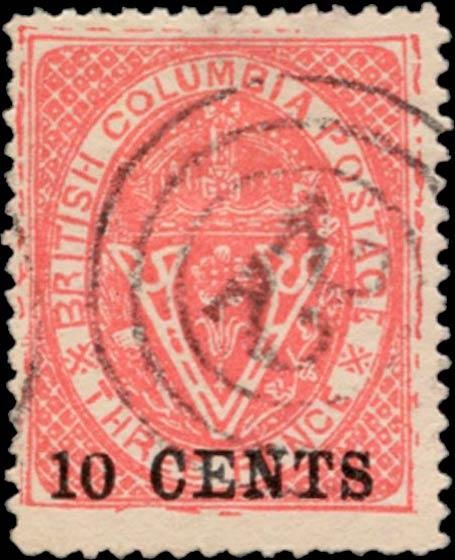 British_Columbia_1869_10c_Spiro_Forgery