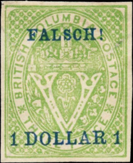 British_Columbia_1869_1dollar_Senf_Forgery