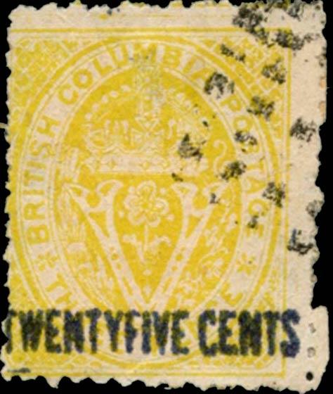 British_Columbia_1869_25c_Spiro_Forgery