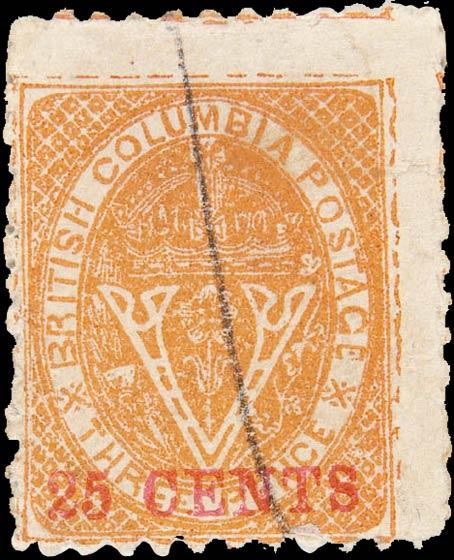 British_Columbia_1869_25c_Spiro_Forgery_Type1