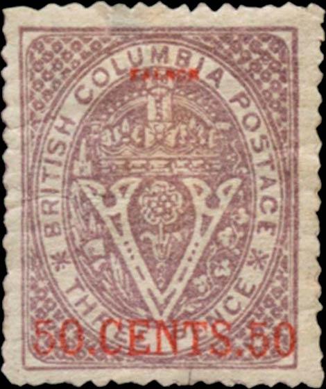 British_Columbia_1869_50c_Senf_Forgery