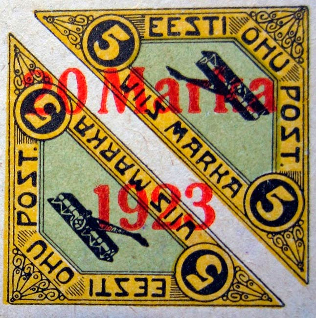 Estonia_1920-1923_Airmail_20m_Forgery2