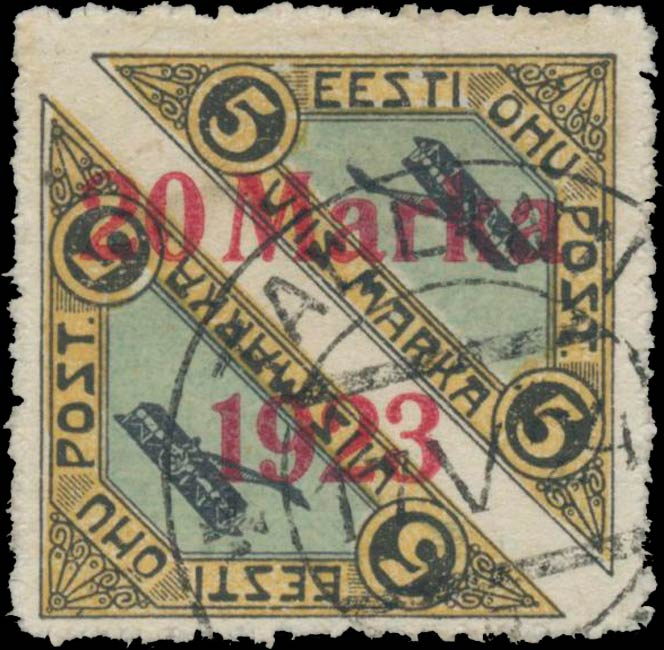 Estonia_1920-1923_Airmail_20m_Genuine