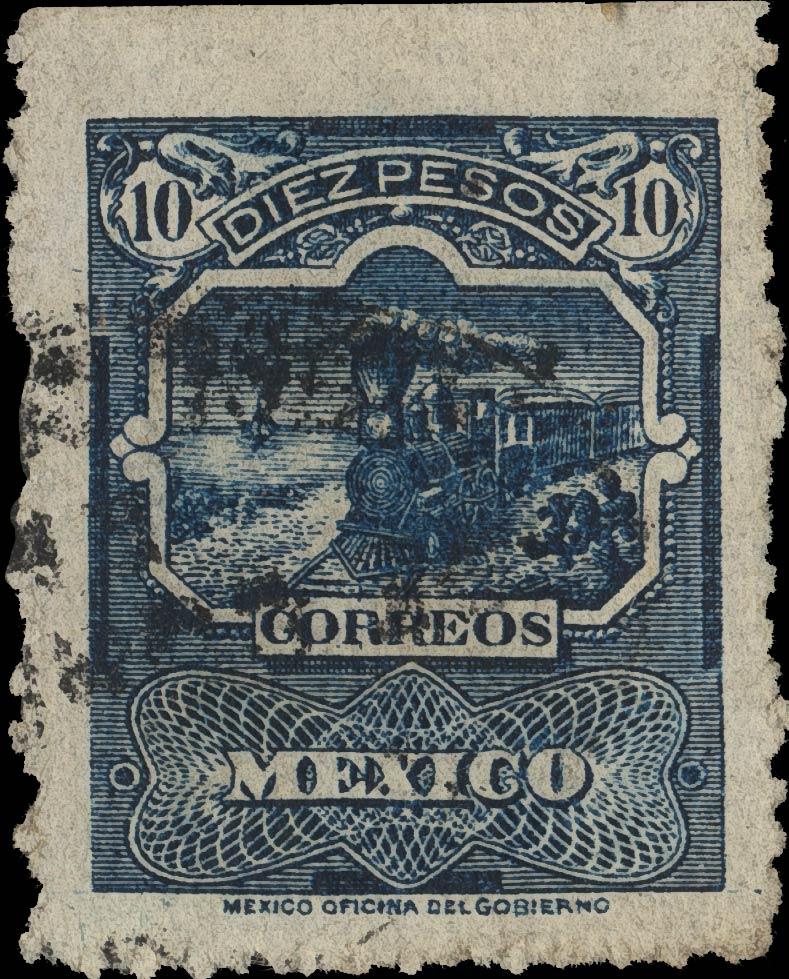 Mexico_1897_Train_10c_Sperati_Forgery