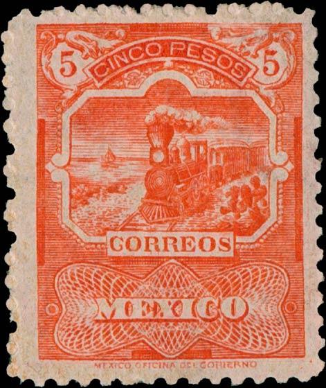Mexico_1897_Train_5p_Genuine1