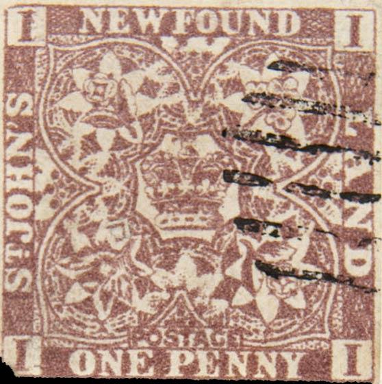 Newfoundland_1857_1p_Spiro_Forgery2