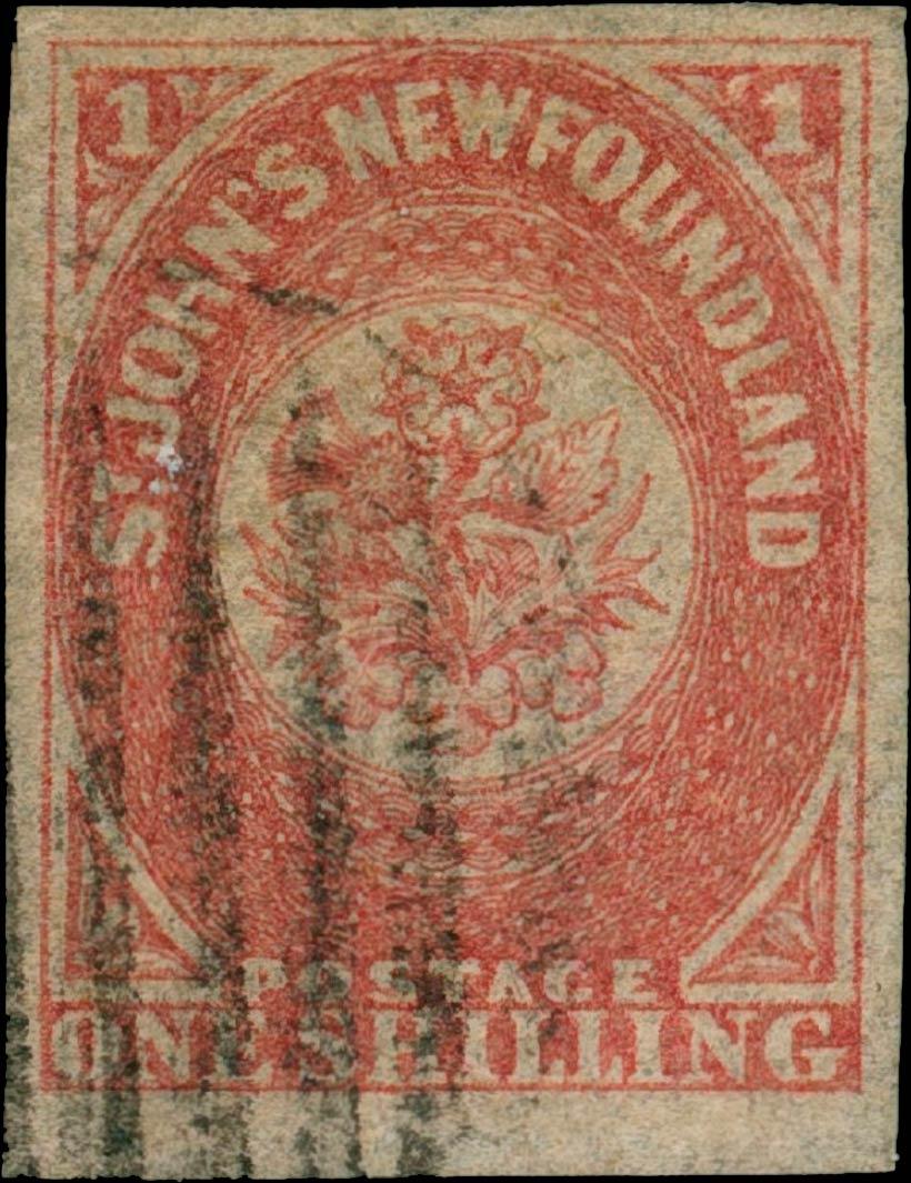 Newfoundland_1857_1s_Genuine2