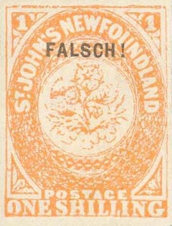 Newfoundland_1857_1s_Senf_Forgery