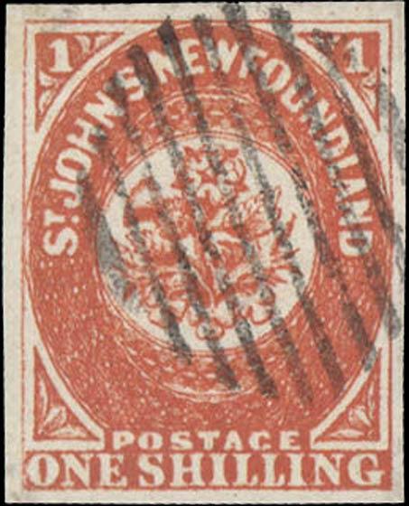 Newfoundland_1857_1s_Sperati_Forgery