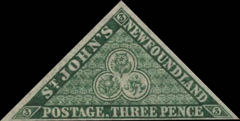 Newfoundland_1857_3p_Triangle_Genuine