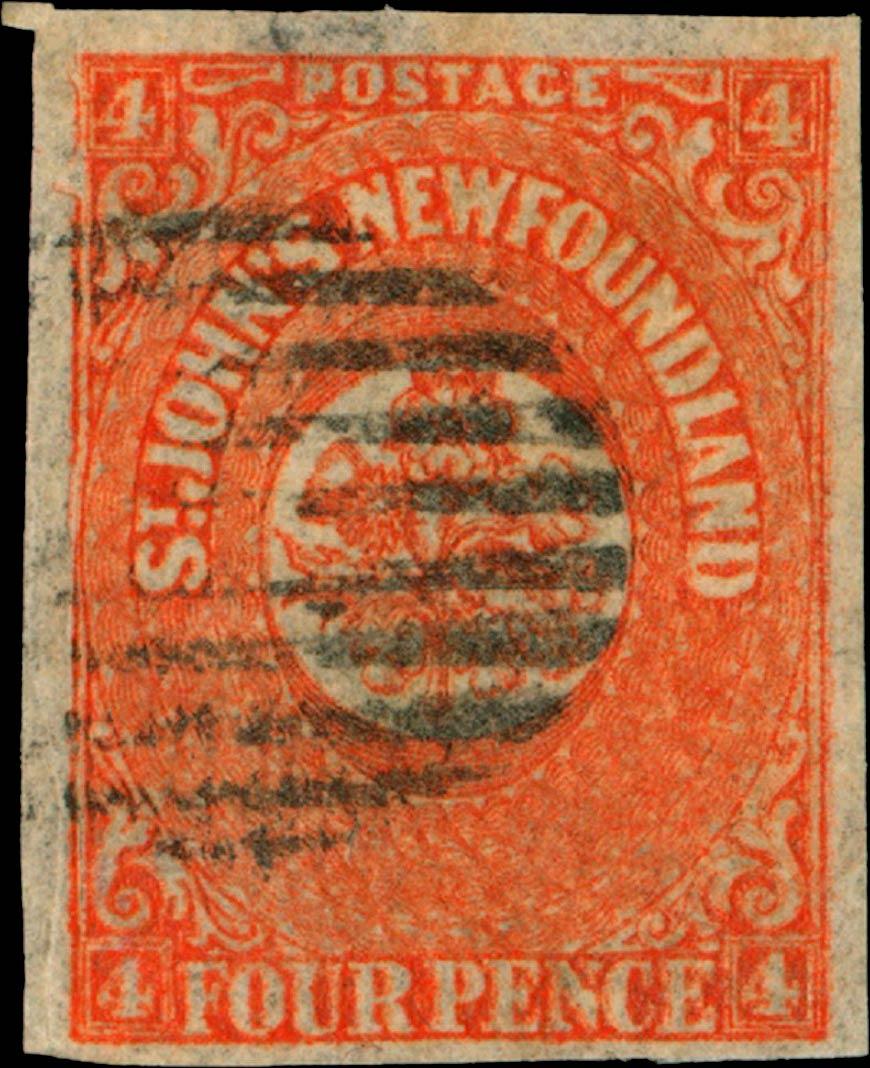 Newfoundland_1857_4p_Genuine