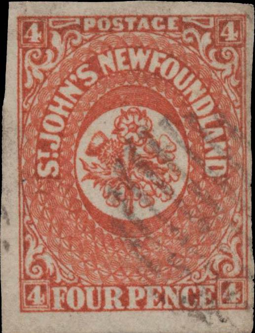 Newfoundland_1857_4p_Genuine2