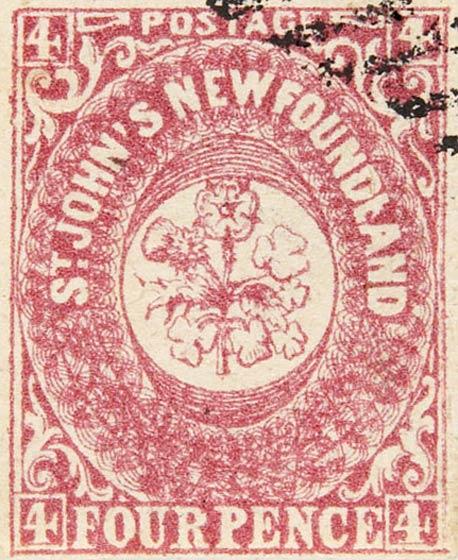 Newfoundland_1857_4p_Spiro_Forgery