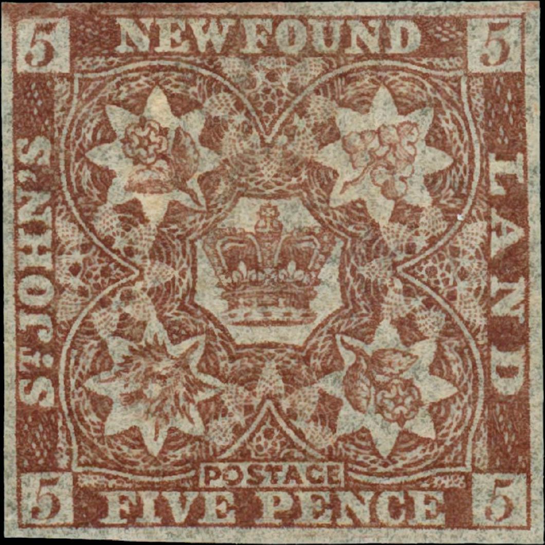 Newfoundland_1857_5p_Genuine