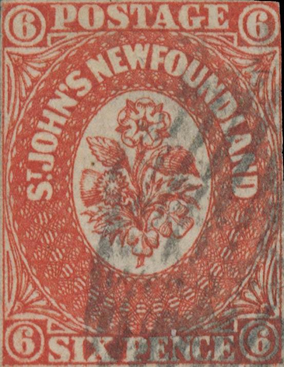Newfoundland_1857_6p_Genuine