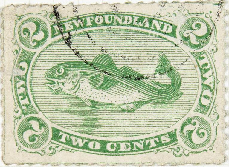 Newfoundland_1866_2c_Codfish_Fournier_Forgery