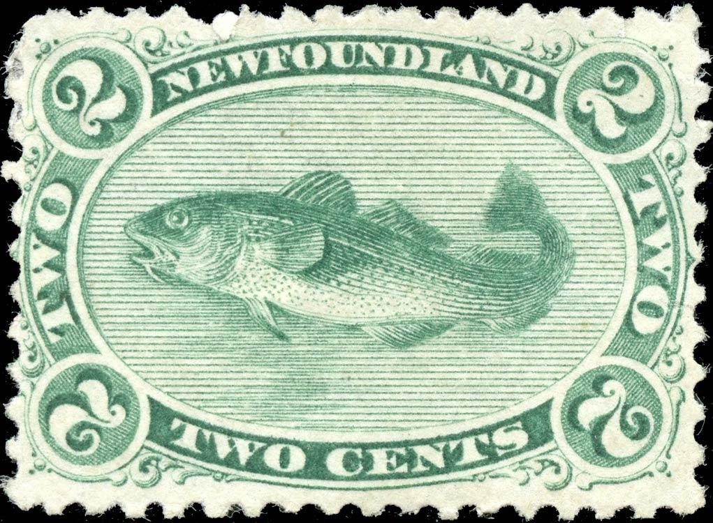 Newfoundland_1866_2c_Codfish_Genuine