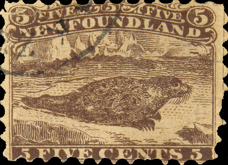 Newfoundland_1866_5c_Seal_Fournier_Forgery