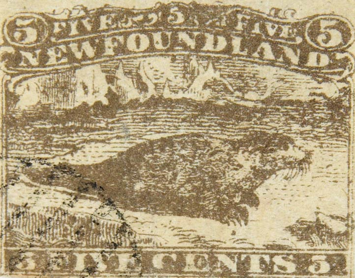 Newfoundland_1866_5c_Seal_Fournier_Forgery2
