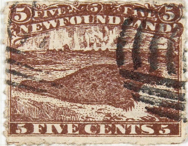 Newfoundland_1866_5c_Seal_Spiro_Forgery