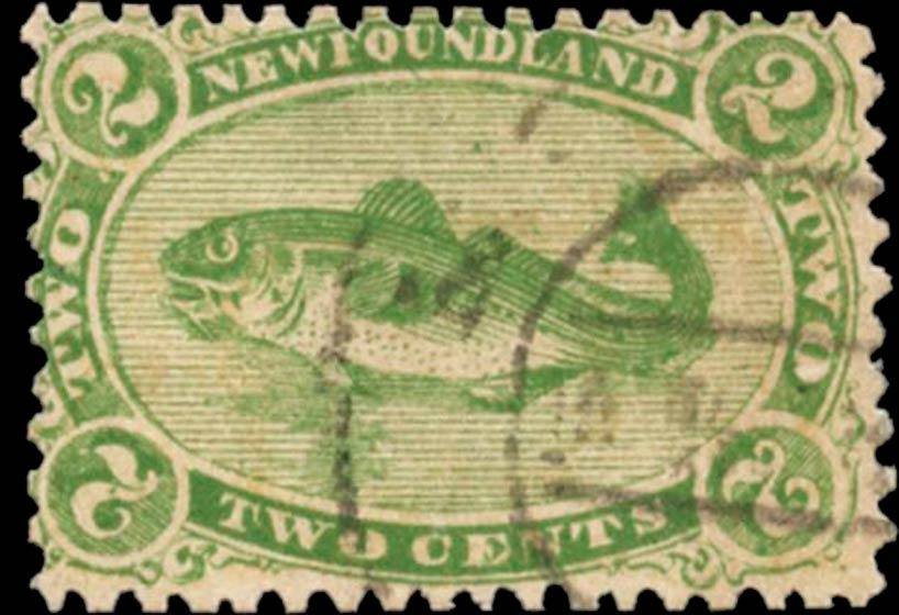 Newfoundland_1866_Codfish_2c_Spiro_Forgery
