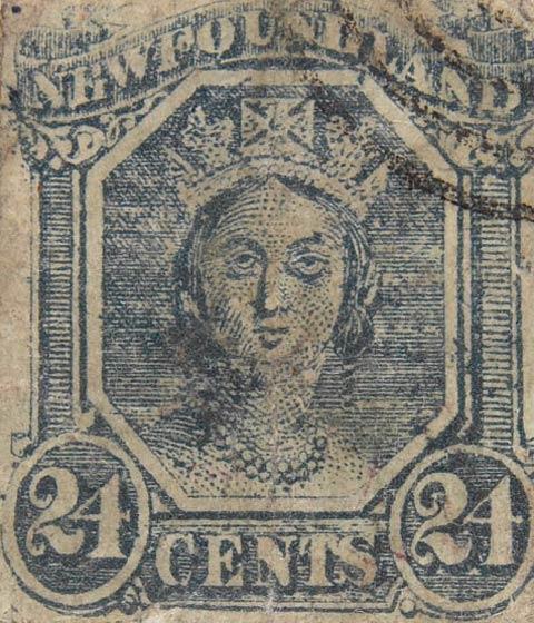 Newfoundland_1866_QV_24c_Fournier_Forgery