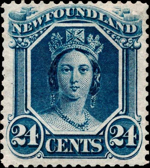 Newfoundland_1866_QV_24c_Genuine