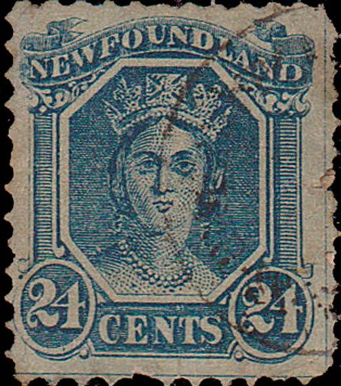 Newfoundland_1866_QV_24c_Spiro_Forgery