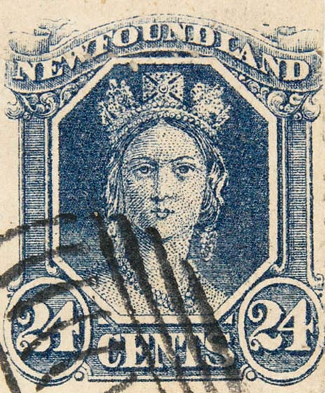 Newfoundland_1866_QV_24c_Spiro_Forgery2