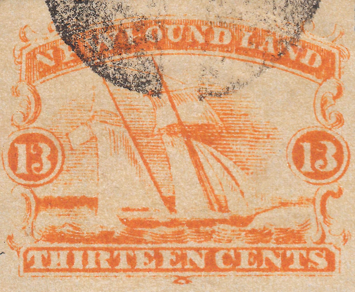 Newfoundland_1866_Schooner_13c_Forgery