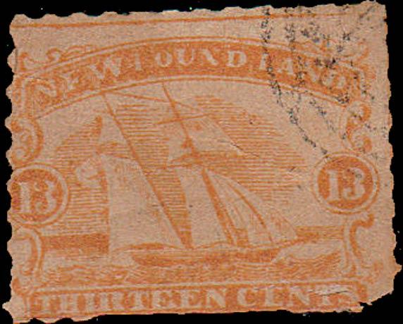 Newfoundland_1866_Schooner_13c_Forgery2
