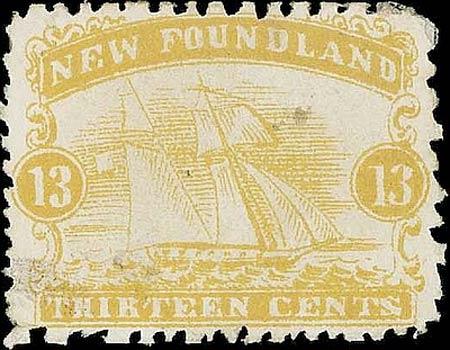 Newfoundland_1866_Schooner_13c_Forgery3