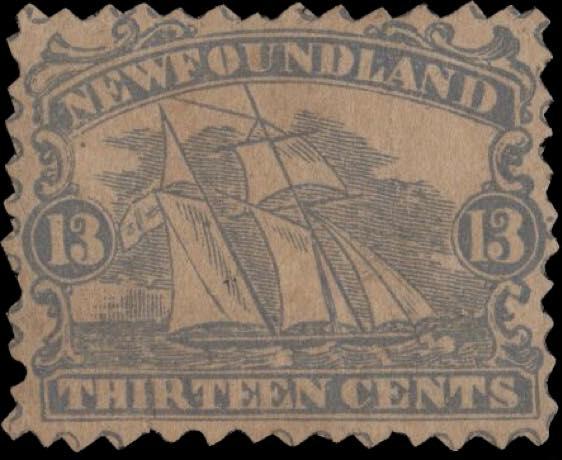 Newfoundland_1866_Schooner_13c_Torres_Forgery