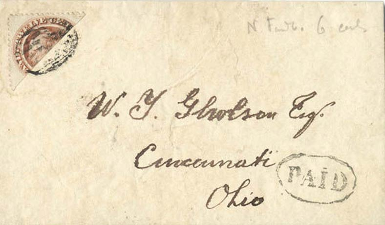 Newfoundland_1870_QV_12c_Bisect_Forged_Cover