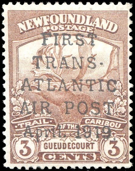Newfoundland_1919_Airmail_3c_Forgery