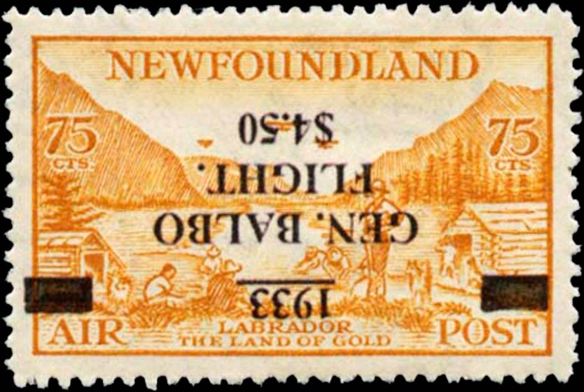 Newfoundland_Balbo_Inverted_Surcharge_Forgery