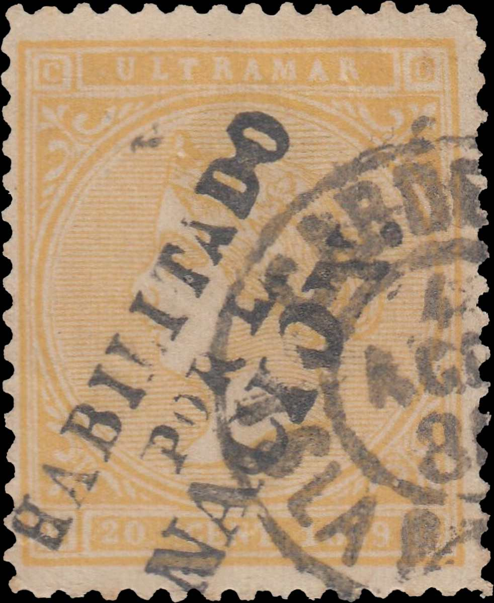 Spanish_West_Indies_1869_20c_Surcharged_Forgery