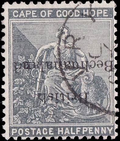 British_Bechuanaland_1888_Hope_Surcharged_half-p_Forgery