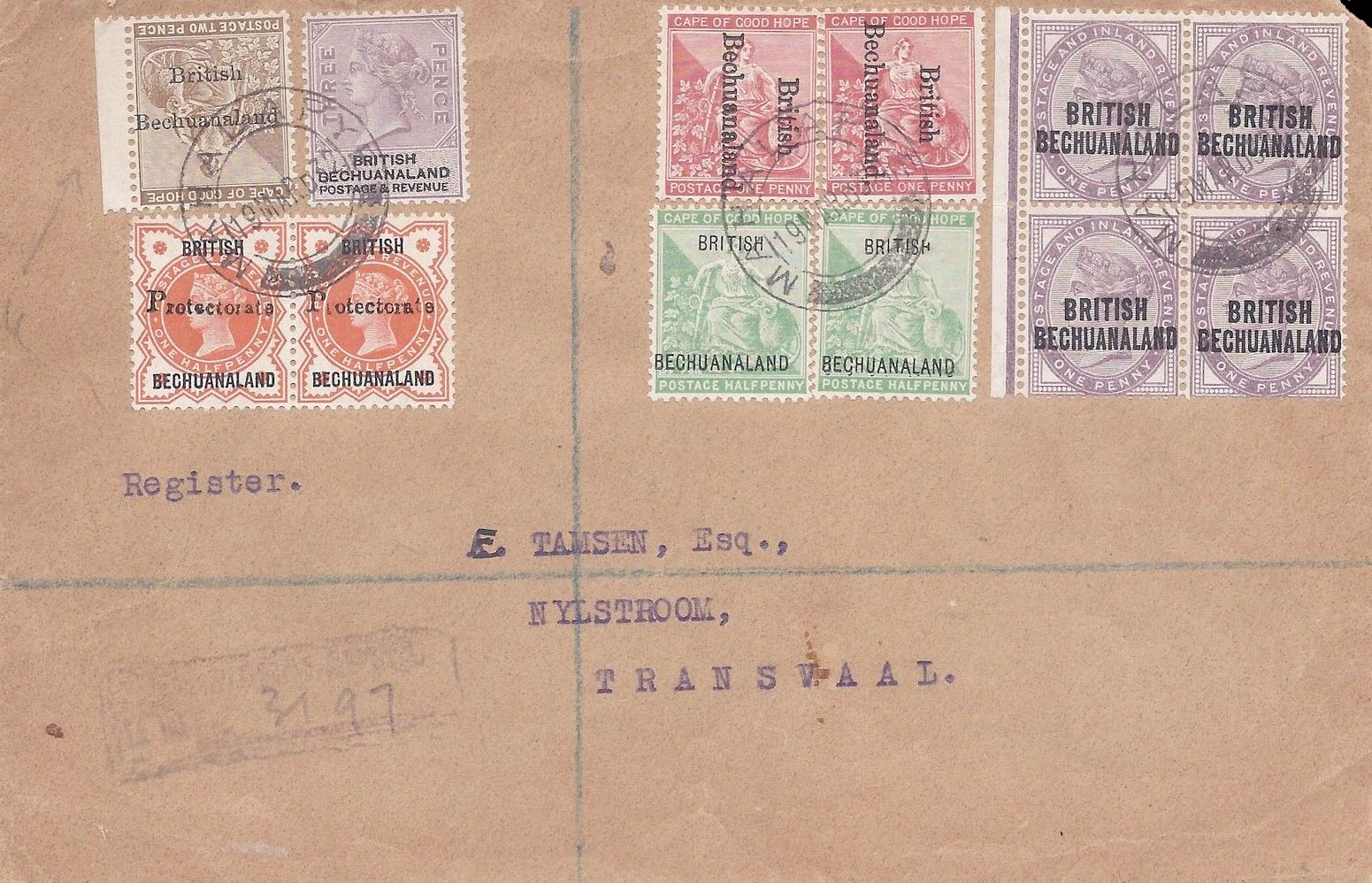 British_Bechuanaland_Cover_Forgery
