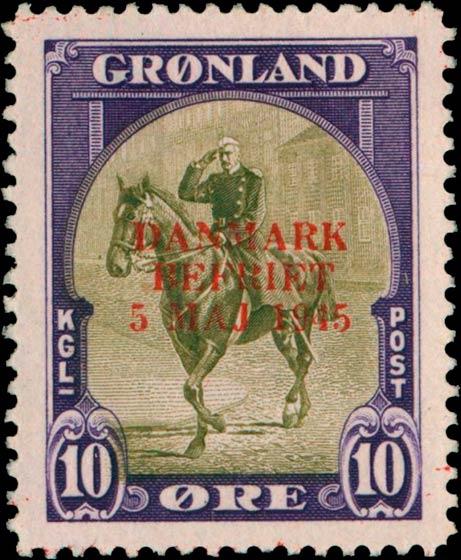 Greenland_1945_10ore_Bogus_Overprint