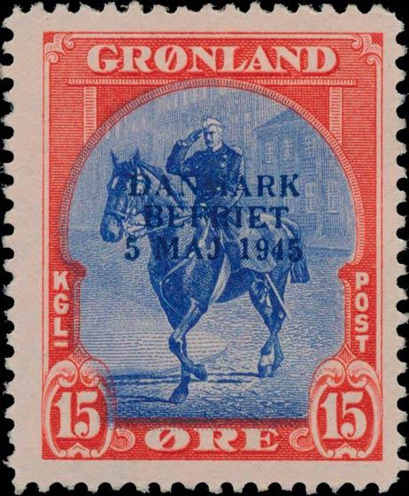 Greenland_1945_15ore_Bogus_Overprint
