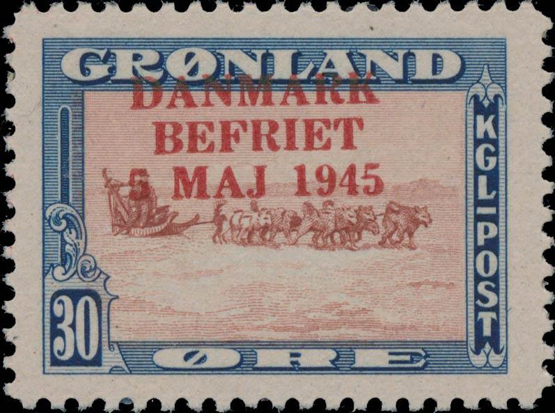 Greenland_1945_30ore_Bogus_Overprint