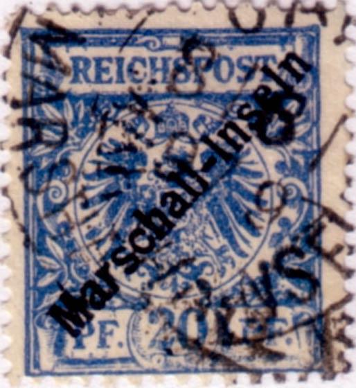 Marshall_Islands_1897_German_Reich_20pf_Fournier_Forgery