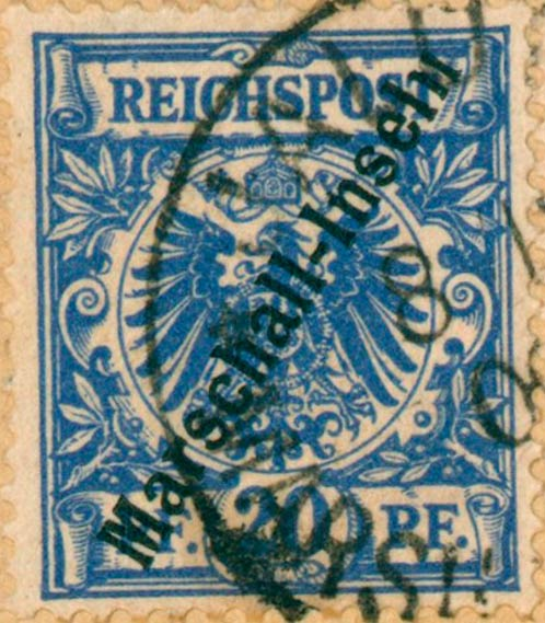 Marshall_Islands_1897_German_Reich_20pf_Genuine