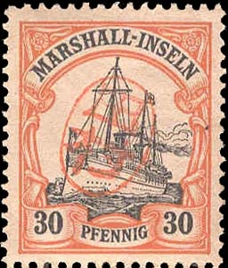 Marshall_Islands_30pf_Japanese_Postmark_Forgery