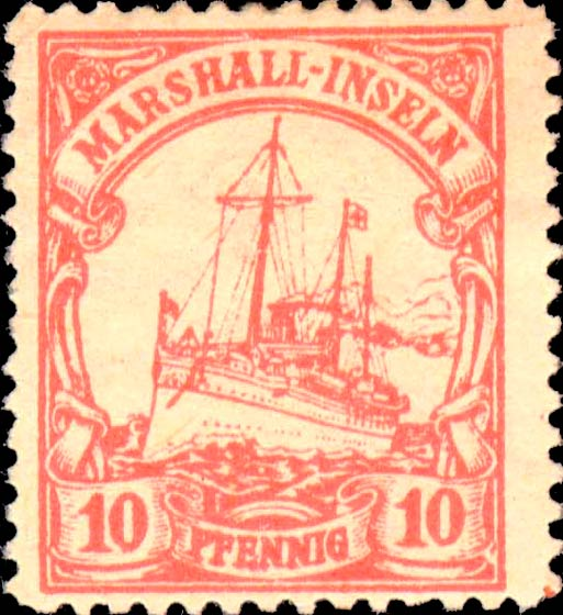 Marshall_Islands_Kaiseryacht_10pf_Fournier_Forgery