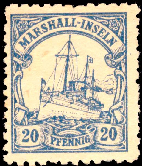 Marshall_Islands_Kaiseryacht_20pf_Fournier_Forgery